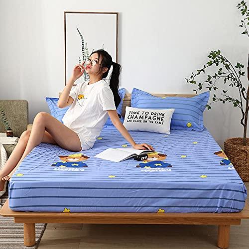 CYYyang colchón Acolchado, antialérgico antiácaros, Sábana Impermeable de un Solo Producto hotel-12_150cm × 190cm