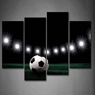 First Wall Art - Eleven White Lights and A Soccer Wall Art Painting Pictures Print On Canvas Art The Picture for Home Modern Decoration