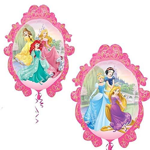 Disney Ballon Fleuri à Monture Princesse 32 po - Double Face