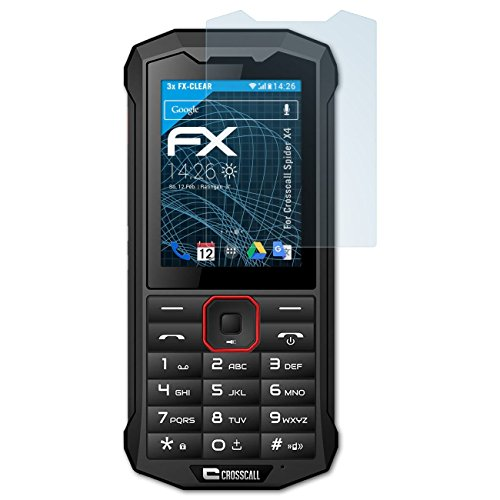 atFolix Schutzfolie kompatibel mit Crosscall Spider X4 Folie, ultraklare FX Bildschirmschutzfolie (3X)
