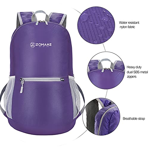 ZOMAKE Ultra Lightweight Packable Backpack Small Handy Travel Hiking Daypack