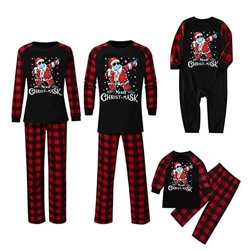 HUIJ Conjunto de Pijamas Familiares navideos,Ropa de Dormir a Juego para Mujeres,Hombres,nios,Ropa de Dormir de Navidad,Ropa de casa,Ropa de Dormir de Fiesta de Navidad para pap,mam,nios