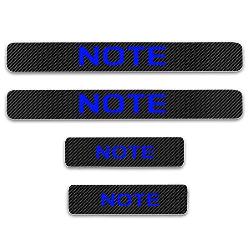 JOA 4pcs Car Outer Door Sill Protector Kick Plates For Nissan NOTE, Auto Accessories Scuff Guard Threshold Cover Pedal, Sticker Trim Non-Slip