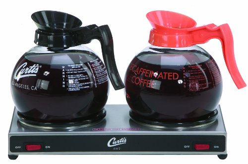 Wilbur Curtis Decanter Warmer 2 Station Warmer, Low Profile - Hot Plate to Keep Coffee Hot and Delicious  - AW-2-10 (Each)