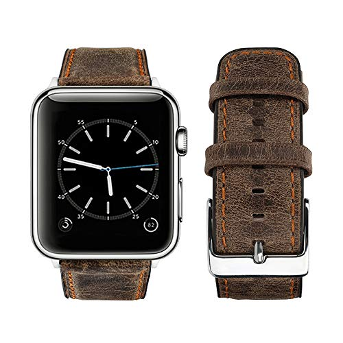 top4cus Premium Apple Watch Leather Band