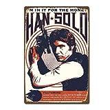 CDecor Han Solo Blechschilder, Metall Poster, Retro