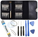 Mobile Ripering Tools, Leather wallet holds the screwdrivers, portable and not easy to drop. High-end leather protect screwdrivers from loosing, crush. Screw Driver for Mobile Phone, Different head size suits different usage. 25 screwdriver heads are...
