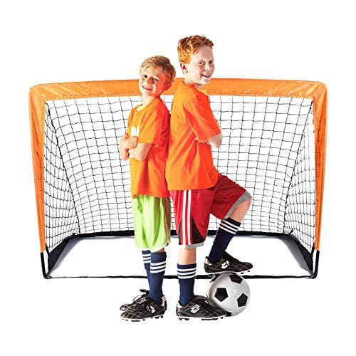 Suny Smiling porta da calcio, 4'x3' Rete da Calcio per Bambini Giardino Allenamento Rete da Calcio da Casa x1