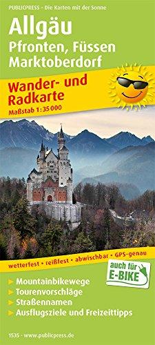 Allgäu, Pfronten, Füssen, Marktoberdorf: Wander- und Radkarte mit Ausflugszielen & Freizeittipps, wetterfest, reißfest, abwischbar, GPS-genau. 1:35000 (Wander- und Radkarte / WuRK)