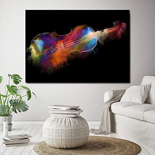 YuanMinglu Moderne wandkunst aquarell Poster und drucke abstrakte leinwand Gitarre wandbild Wohnzimmer Dekoration rahmenlose malerei 20x30 cm
