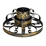 Harbour Housewares Traditional Hand Painted Metal Christmas Tree Stand - Gold