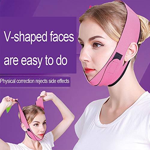 Pansement Lifting pour Soins Raffermissant Le Visage Mince Double Massage du Menton Dispositif De Levage du Visage 2pcs