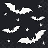 Black Bats Lunch Napkins, Party Tableware, 20 Ct