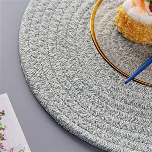 GUOCAO Coaster Table Mat Isolierung Schüssel Pad weicher handgefertigte ovale runder Entwurf Baumwolle Antiverbrühschutz Platzdeckchen Beleg Küchenzubehör Matte (Color : 10, Size : Round)