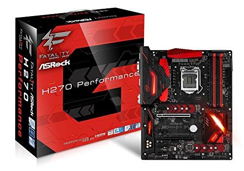 Asrock Fatal1ty H270 Performance Motherboard, Intel H270, LGA 1151 grau