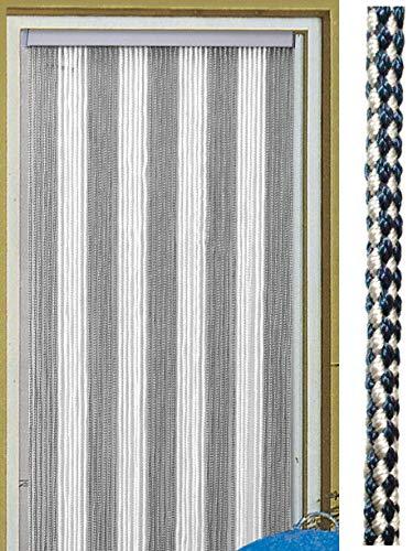 Deurgordijn Korda 60 × 190 cm wit/zilver