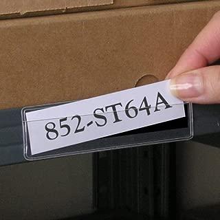 STORE SMART - Clear Plastic Shelf Tag/Label Holder - Magnetic Back - 1