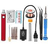 Soldador, 1300mAh 5V Anti-Oxidación Portátil Recargable Soldador Pen Mini USB Soldador Kit para teléfono celular Reparación de productos electrónicos Soldadura(rojo)