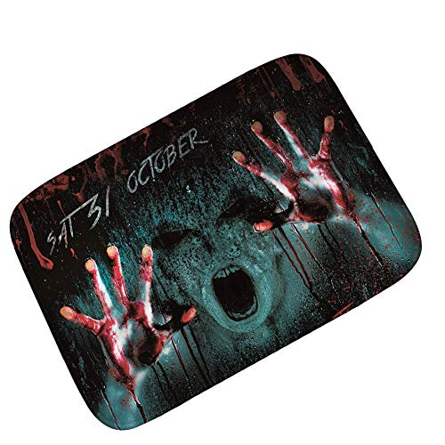 Blood Handprint Demon Party Halloween Carpet Floor Mat Flannel Bedroom Living Room Entry Foot Mat