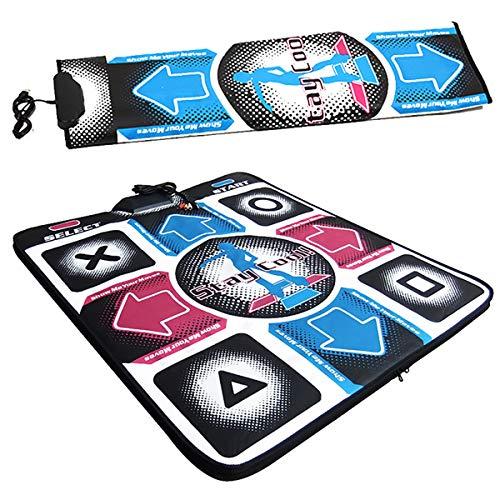 DERCLIVE 1Pcs Colorful USB Non-Slip Dance Gaming Mat Dancing Step Dance Mat Pad Compatible for PC Laptop etc
