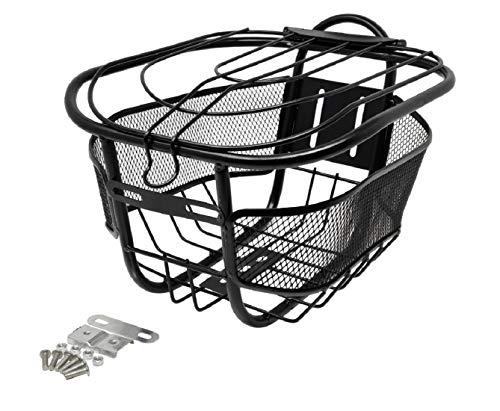 Ducomi Fahrradkorb vorne universell für Erwachsene, Mädchen und Kinder – Fahrradkorb für Hund, aus rostfreiem Metall mit Diebstahlschutzdeckel zum Befestigen am Lenker