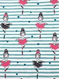 Jersey Stoff Kinderstoff Ballerina Mint rosa Breite 145cm