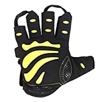 Gym Gloves Protect Your Hands & Improve Your Grip Weightlifting Grips (Yellow, Large)
