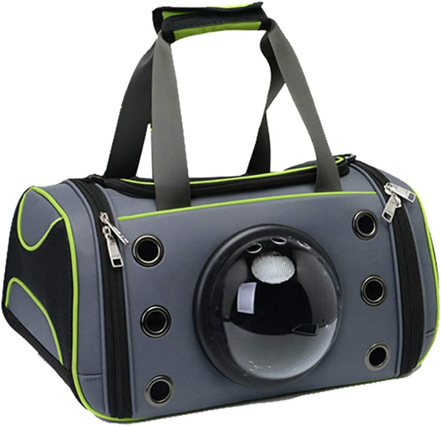 Lightweight Pet Carrier Bag with Mat, Portable Transparent  Breathable,Space Capsule Travel Transport Crate,44 x 26 x 26 cm