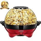 Aicook Macchina Pop Corn, 5L Macchina per Popcorn con Rivestimento con Antiaderente, Staccabile,...