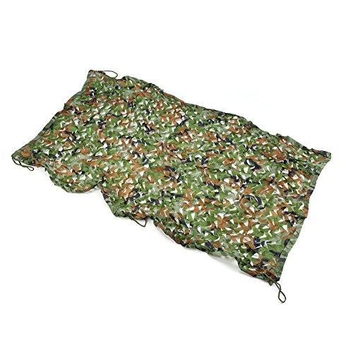 Yosoo Style militaire Armée tactique vert Woodland Camouflage Camo Netting Nets Net, pour Wargame, Camping, chasse, et autres activités de plein air (1 x 2 M)