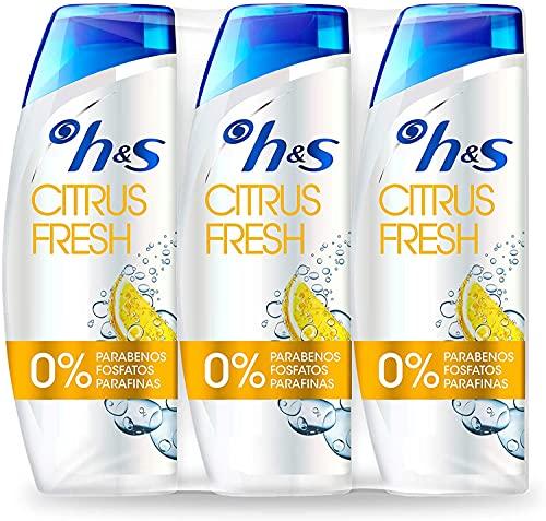 H&S Champú Citrus Fresh Anticaspa Champú para el cabello graso pH...