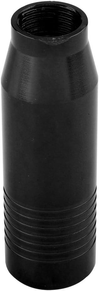 Perilla de cambio de engranaje del coche negro Perillas de palanca de cambios manual universal de aleaci/ón de aluminio