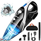 Handheld Vacuum Cordless Rechargeable - LOZAYI Powerful Cyclonic Suction 9KPA Vacuum Cleaner, Portable Hand Vacuum with Stainless Steel HEPA Filter, Li-ion Battery Quick Charge for Home/Car Cleaning