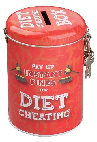 BOXER Gifts Tirelire humoristique Pay Up Instant Fines for Diet tricherie