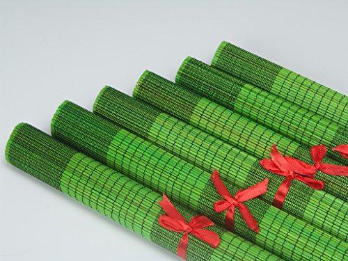 Urban Lifestyle Lot de 6 sets de table en bambou Vivian vert clair
