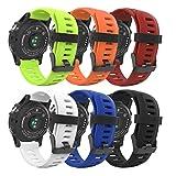 MoKo Bracelet de Remplacement en Silicone Souple pour Garmin D2 Delta PX/Garmin Fenix 3 /Fenix 3...