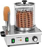 Calentador de salchichas de acero inoxidable con cesta de 160 mm de diámetro y 2 tostadas