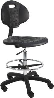 "BenchPro Urethane Chair with 18"" Adjustable Footring. Nylon Base, 21"