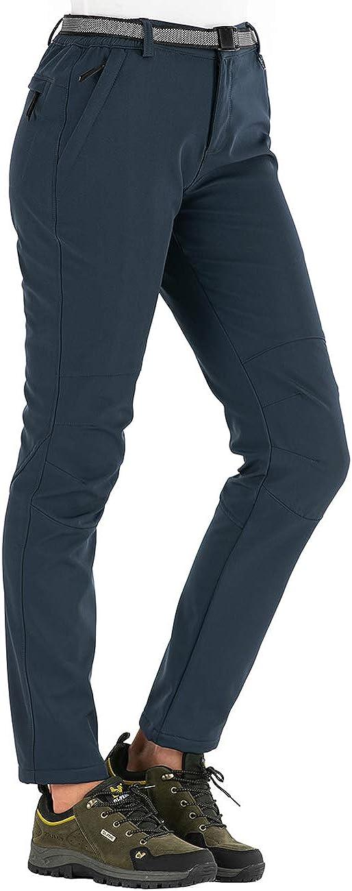 Dafenp Pantalones Trekking Mujer Invierno Impermeables Pantalones Termicos Montana Senderismo Esqui Nieve Polar Forrado Aire Libre Ropa Mujer Kariera Uz