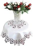 Galleria di Giovanni Lace Tablecloth Table Topper White Flower 34' Square Doily Tablecloth