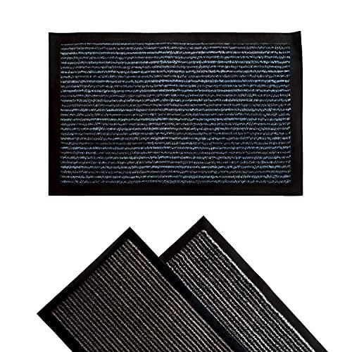 KOKO DOORMATS Alfombra Entrada casa Interior para recibidor o Pasillo   felpudos Entrada casa Originales, Alfombra Limpia Zapatos Apto para Uso en Exterior o Interior, Antideslizante (Blue, 40x60 cm)