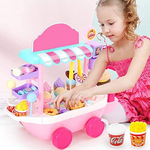 Banane 26 STÜCKE EIS Mini Warenkorb Pretend Play Set Mini EIS Candy Trolley, Lebensmittel Supermarkt Trolley Lernspielzeug Mädchen Und Kinder 3 + Jahre Alt