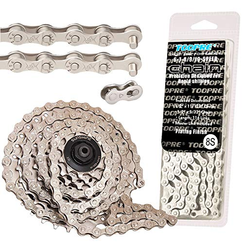 Lefute Bike Chain, Bicycle Chain 6/7/8/24 Speed Cycling Chains Reusable for Road Mountain Bike