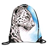 uykjuykj Bolsos De Gimnasio,Mochilas,Shallow Light Sackpack Drawstring Backpack Waterproof Gymsack Daypack For Men Women Side Face of Tiger4 Lightweight Unique 17x14 IN