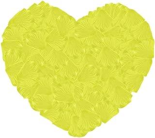 Neo LOONS 1000 Pcs Artificial Silk Rose Petals Decoration Wedding Party Color Yellow