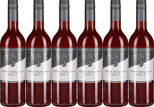 Aspach Muskat Trollinger Rosé S 2019 Halbtrocken (6 x 0.75 l)
