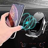 Chargeur sans Fil de Voiture,HAMTOD C20 15W Fermeture Auto 2 en 1 Support 360° Chargeur de Rapide -téléphone pour iPhone XS Max/XS/XR/X, 8/8 Plus, Nexus 7/6/5, Galaxy S9+/S8/S8+/S7/S6/Note8/5 & Plus