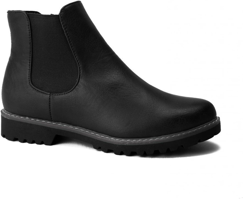 Divaz Womens Grace Ladies Chelsea Boot Black Size UK 4 EU 37