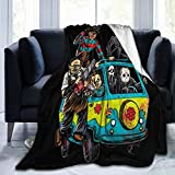 PO1 UP Michael-Myers Horror Halloween Soft Throw Blankets Decorative Bedspread Fleece Plush Throw Blanket All Season for Couch Bed Sofa 40X50 Inch