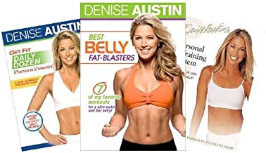 Denise Austin - (Best Belly Fat-Blasters/Get Fit Daily Dozen/Personal Training System) (3 Pack)